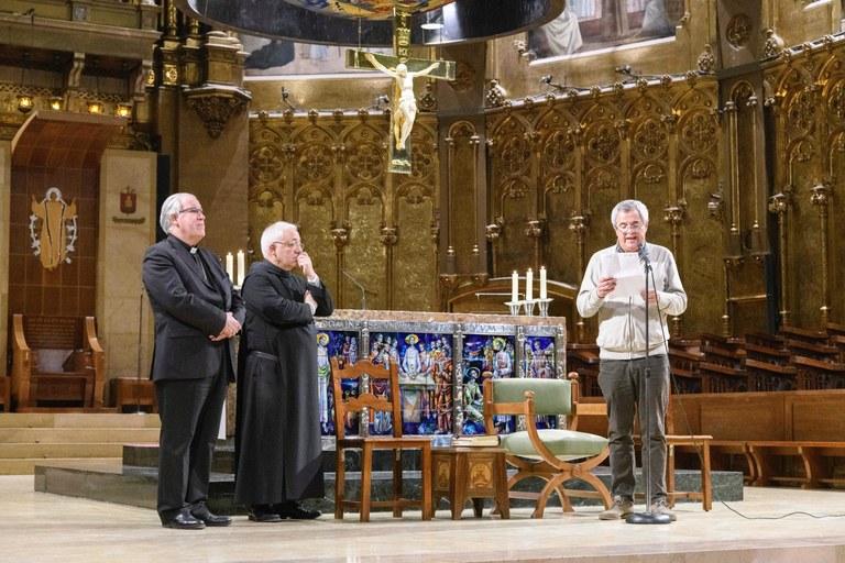 El prior de la comunitat benedictina va rebre la Romeria de Sabadell