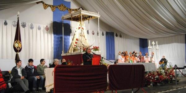 Mons. Saiz Meneses celebra El Rocio a Catalunya