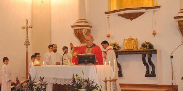 Mons. Saiz Meneses celebra la festa de Sant Sebastià a Polinyà