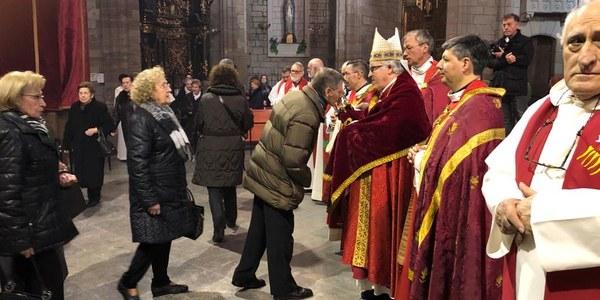Mons. Saiz Meneses presideix les festes del Santíssim Misteri de Cervera
