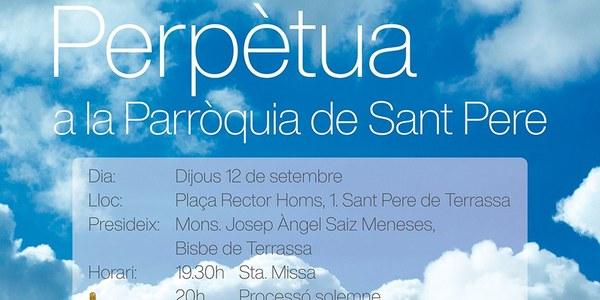 Mons. Saiz Meneses preside la Misa con motivo del inicio de la Adoración perpetua en la Capilla del Santísimo de la parroquia de San Pedro
