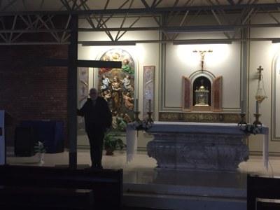 Cruz de Mosul en la parróquia de Santa Maria de Rubí